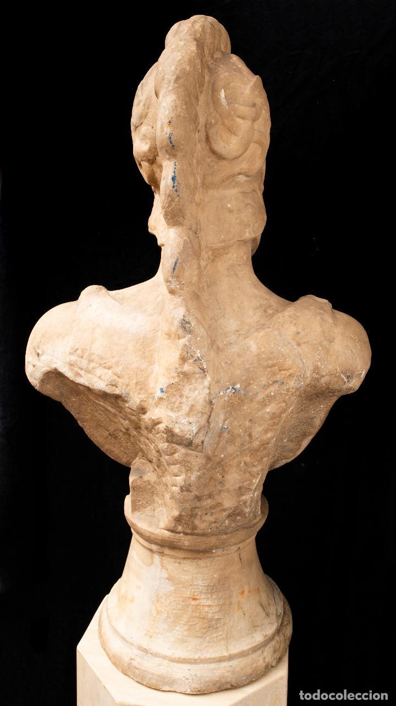 Arte: Busto de mármol representando a Ares dios de la guerra escuela italiana siglo XVII - Foto 7 - 213311538