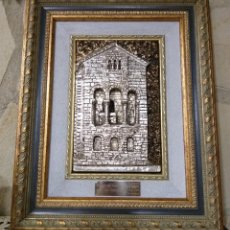 Arte: SANTA MARÍA DEL NARANCO. SIGLO IX. OVIEDO CUADRO BAÑO PLATA EN RELIEVE. Lote 217038341