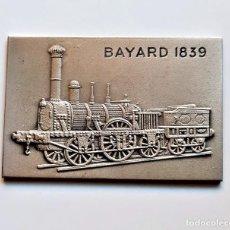 Art: BAYARD 1859 LINGOTE PLACA FF.CC - 38.68.GRAMOS - 60 X 40.MM NIQUEL, PLATA Y ZINC. Lote 217915910