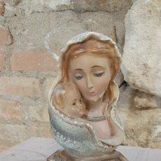 Arte: BUSTO VIRGEN Y NIÑO JESUS ESTUCO. Lote 218782511