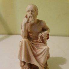 Arte: FIGURA DE SOCRATES REALIZADA EN MARMOLINA. Lote 221565061
