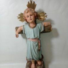 Arte: NIÑO JESÚS DE FABRICACIÓN OLOT SELLADO ORIGINAL MEDIDAS FOTOGRAFIADAS. Lote 221592117