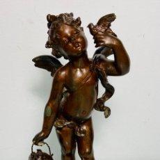 Arte: FIGURA EN CALAMINA ANGEL QUERUBÍN DE MOREAU. Lote 221812068