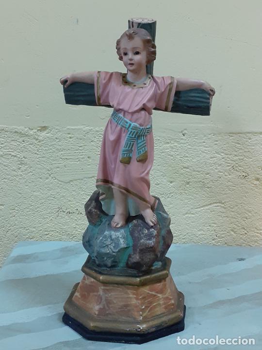 NIÑO JESUS CRUCIFICADO SELLADO (3796) (Arte - Escultura - Otros Materiales)