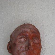 Arte: ANTIGUA MÁSCARA DE YESO O ESCAYOLA - ROSTRO MASCULINO - CABEZA DE HOMBRE. Lote 223264456