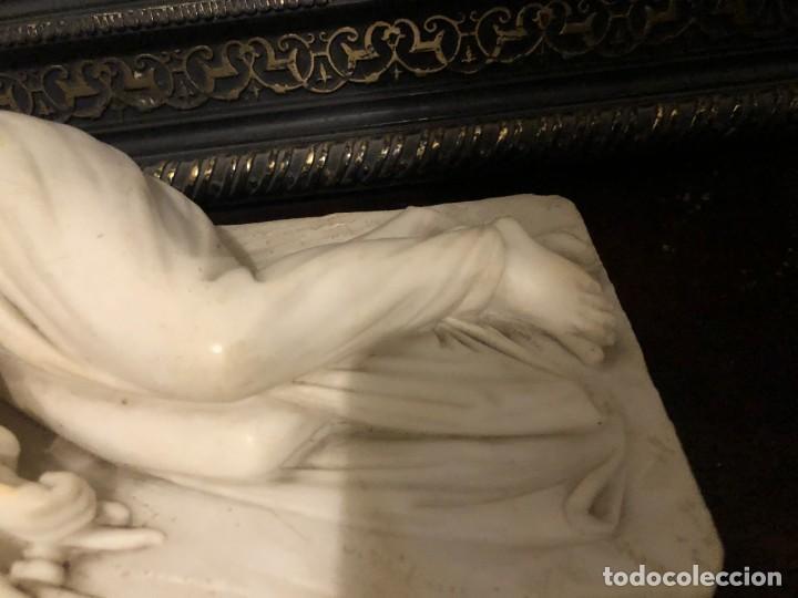 Arte: EXTRAORDINARIA SANTA CECILIA EN MARMOL, S. XIX - Foto 3 - 227187886