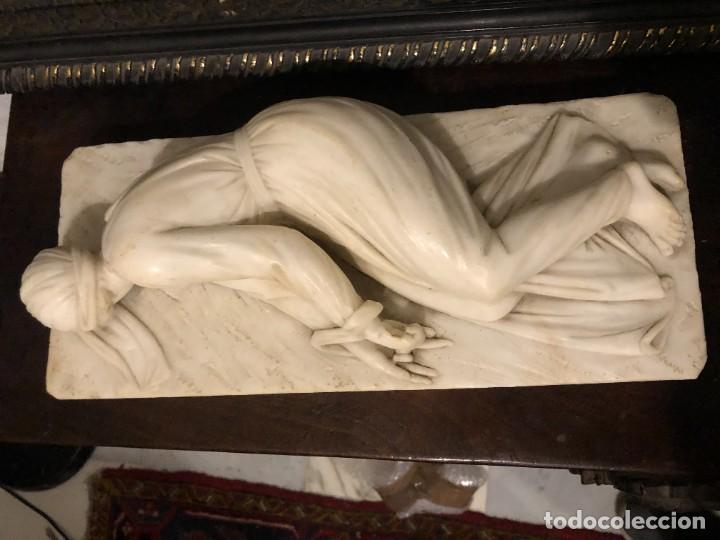 Arte: EXTRAORDINARIA SANTA CECILIA EN MARMOL, S. XIX - Foto 4 - 227187886