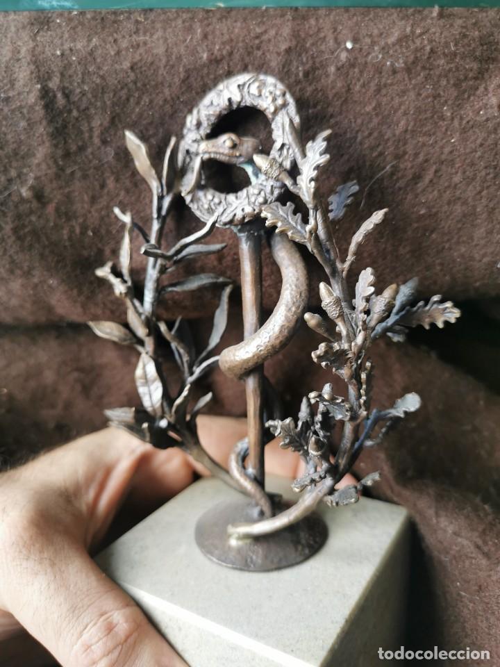 Arte: Escultura de cobre y mármol.Miguel Moreno.Granada - Foto 4 - 150740410