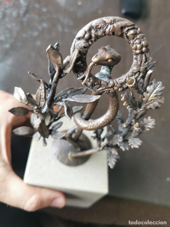 Arte: Escultura de cobre y mármol.Miguel Moreno.Granada - Foto 5 - 150740410