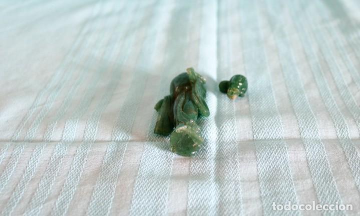 Arte: Fina figura oriental de jade. Fine oriental jade figure - Foto 5 - 80292485