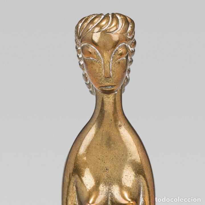 """Arte: Karl Hagenauer Figura de pie 1920s Latón 29 cm marcado """"WHW"""", """"KARL"""", """"HAGENAUER/WIEN""""Archivo 1774 - Foto 2 - 231000095"""