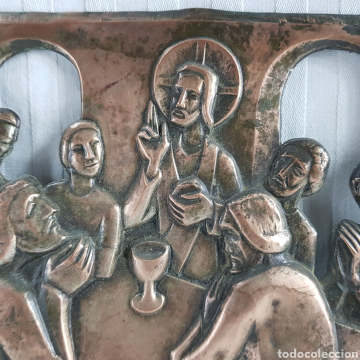 Arte: Santa Cena por L. Del Rio Repujado - Foto 3 - 231367525