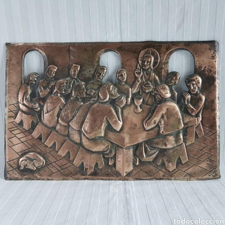 SANTA CENA POR L. DEL RIO REPUJADO (Arte - Escultura - Otros Materiales)