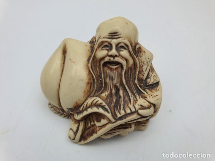FIGURA CHINA EN MARFILINA (Arte - Escultura - Otros Materiales)