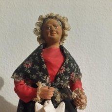 Arte: SANTOLA DE COLECION ORIGINALE DE PROVENCE FRANCEHECHA EN ARGILA ROPAS ORIGINALES. Lote 242845175