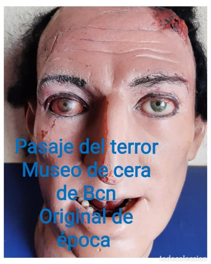 (MCE-07)BUSTO DE CERA DE PASAJE DEL TERROR-MUSEO DE CERA DE BARCELONA (Arte - Escultura - Otros Materiales)