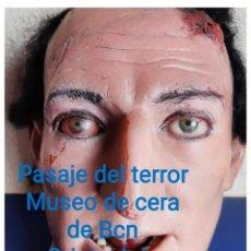 Arte: (MCE-07)BUSTO DE CERA DE PASAJE DEL TERROR-MUSEO DE CERA DE BARCELONA. Lote 244786250
