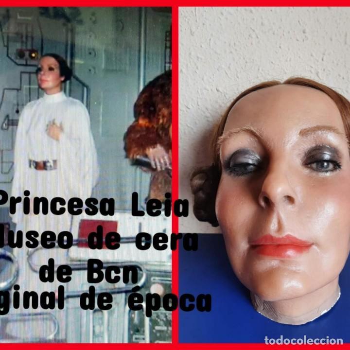 (MCE-10)BUSTO DE CERA DE LA PRINCESA LEIA ORGANA-STAR WARS-MUSEO DE CERA DE BARCELONA (Arte - Escultura - Otros Materiales)
