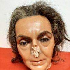 Arte: (MCE-18)BUSTO DE CERA DESCONOCIDO-MUSEO DE CERA DE BARCELONA. Lote 246204475