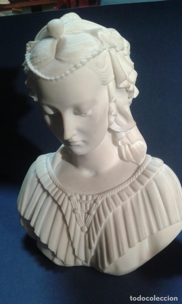 Arte: Madonna renacentista, mármol reconstituido. Próxima a Arnaldo Gianelli, siguiendo a Filippo Lippi - Foto 4 - 247295060