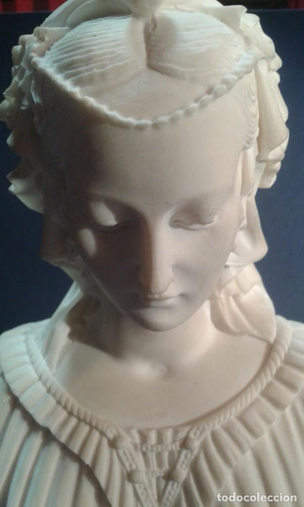 Arte: Madonna renacentista, mármol reconstituido. Próxima a Arnaldo Gianelli, siguiendo a Filippo Lippi - Foto 5 - 247295060