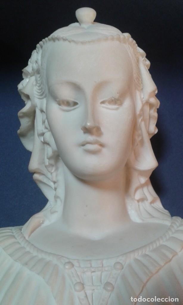 Arte: Madonna renacentista, mármol reconstituido. Próxima a Arnaldo Gianelli, siguiendo a Filippo Lippi - Foto 10 - 247295060