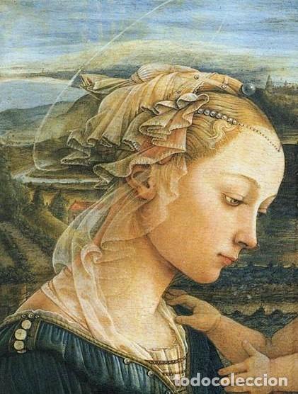 Arte: Madonna renacentista, mármol reconstituido. Próxima a Arnaldo Gianelli, siguiendo a Filippo Lippi - Foto 11 - 247295060