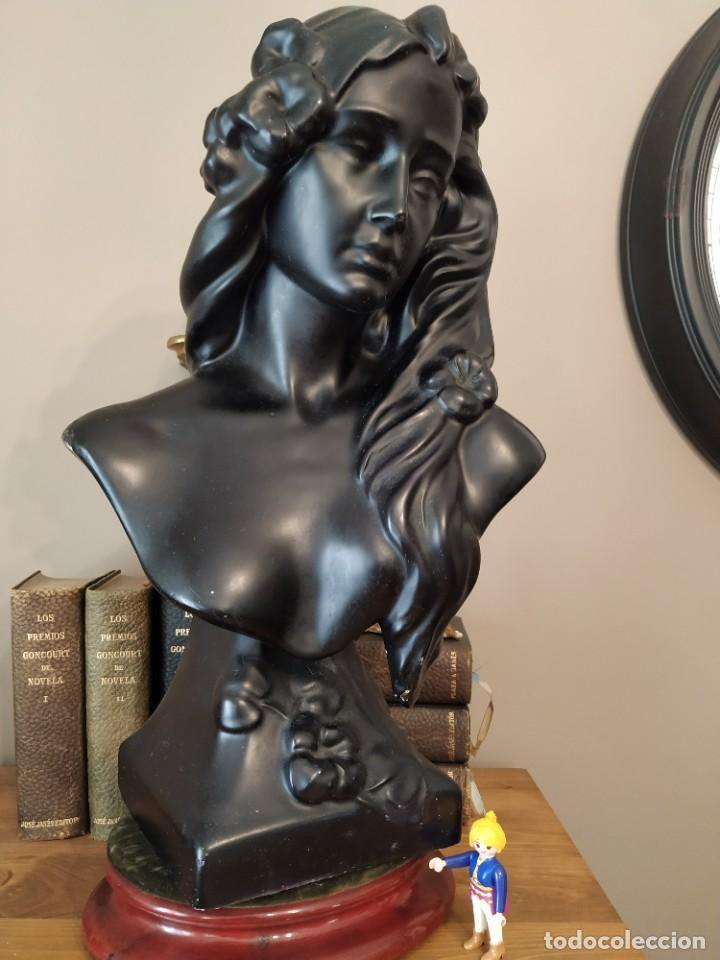 BUSTO MUJER MODERNISTA ART NOUVEAU ESTUCO ALTURA 48 CM (Arte - Escultura - Otros Materiales)