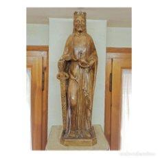 Art: ANTIGUA ESCULTURA EMPERADOR REY CARLOMAGNO. TALLERES ANONIMA MATO, OLOT. 53 CMS. ARTE RELIGIOSO. Lote 258256885