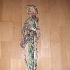 Art: FIGURA ORIENTAL DE HOMBRE CON AVES REALIZADO EN MARFILINA DE 47CM. VER DESCRIPCIÓN. Lote 262884745
