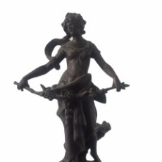 Arte: AUGUSTE MOREAU (1834-1917) FLEUR DE MAI.ESCULTURA DE CALAMINA FINALES SIGLO XIX.. Lote 265110684