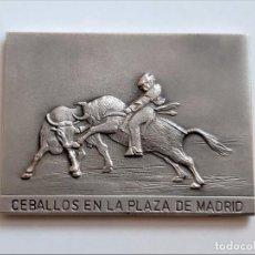 Art: CUADRO TIPO LINGOTE GOYA SIMIL (DOBLE CARA) PASE ALTO DE JOSELITO Y CABALLOS PLAZA MADRID - 62.80.GR. Lote 266946079