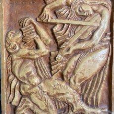 Arte: ANTOINE BOURDELLE , BAJO RELIEVE EN YESO DE 1908 , LA MUSICA , FRENCH ARTIST. Lote 268985489