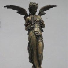 Arte: ALEGORIA DE LA INDUSTRIA O DEL TRABAJO. CALAMINA PATINADA. HACIA 1890. Lote 270686828