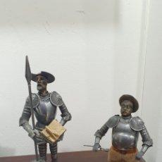 Arte: LOTE DE DOS FIGURAS SANCHO PANZA Y DON QUIJOTE, MÁS REGALO DE OTRA. Lote 273944893