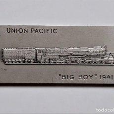 Art: CUADRO TIPO LINGOTE SIMIL UNION PACIFIC BIG BOY 1941 - 37.32.GR - 70 X 34.MM. Lote 274576078