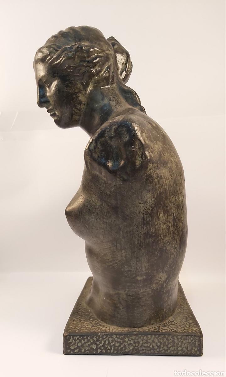 Arte: FIDEL AGUILAR MARCO (GERONA 1894-1917) VENUS DE MILO. ESCULTURA EN CERÁMICA ARGERATA DE QUART - Foto 3 - 277152883