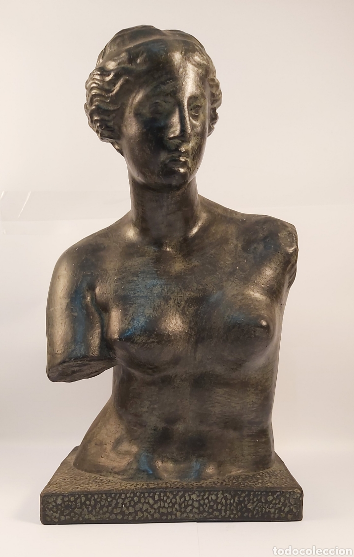 FIDEL AGUILAR MARCO (GERONA 1894-1917) VENUS DE MILO. ESCULTURA EN CERÁMICA ARGERATA DE QUART (Arte - Escultura - Otros Materiales)