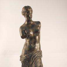 Arte: FIDEL AGUILAR MARCO (GERONA 1894-1917) VENUS DE MILO. ESCULTURA EN CERÁMICA ARGERATA DE QUART. Lote 277153213