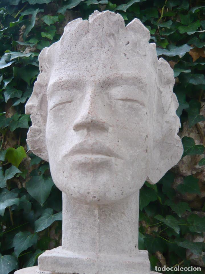BUSTO ROSTRO HOMBRE JOVEN - ARTE CLASICO - TAMAÑO NATURAL - MODELO DE ESTUDIO (Arte - Escultura - Otros Materiales)