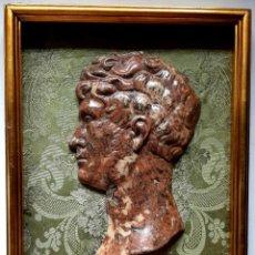 Arte: MARAVILLOSO RELIEVE CLASICO , EMPERADOR ROMANO - ENMARCADO. Lote 277523158