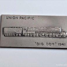 Art: CUADRO TIPO LINGOTE SIMIL UNION PACIFIC BIG BOY 1941 - 37.32.GR - 70 X 34.MM. Lote 287112788