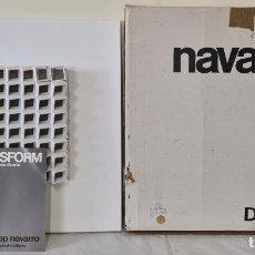 Arte: ESCULTURA EN METAL ESMALTADO. JOSEP NAVARRO. DISFORM. SERIE A-3. BLANCO. 1974.. Lote 288657693