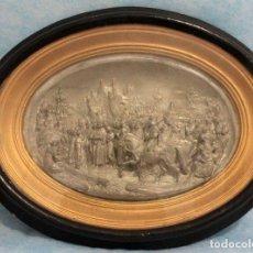 Arte: JUSTIN MATHIEU (1796-1864) - RELIEVE, ESCENA BÉLICA - YESO, CON BAÑO DE PLATA - SIGLO XIX. Lote 294167788