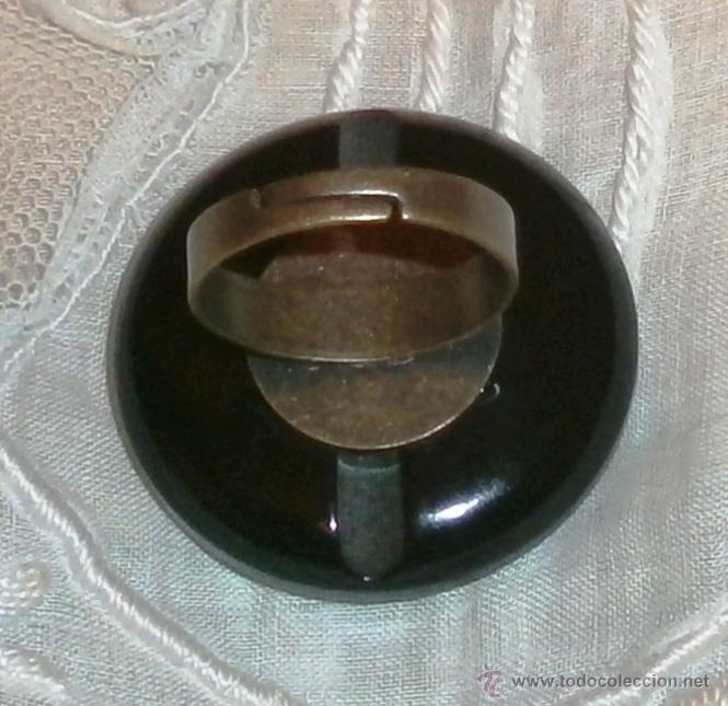 Artesanía: Vintage - Anillo fantasía gran botón nacarado Talla universal adaptable - Foto 3 - 47883051