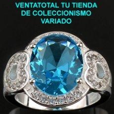 Artesanía: ANILLO SORTIJA FASHION DE ALTA JOYERIA DE PLATA MACIZA CON GEMAS - LEER DENTRO LA DESCRIPCION - Nº27. Lote 95631163