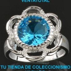 Artesanía: ANILLO SORTIJA FASHION DE ALTA JOYERIA DE PLATA MACIZA CON GEMAS - LEER DENTRO LA DESCRIPCION - Nº38. Lote 49957603
