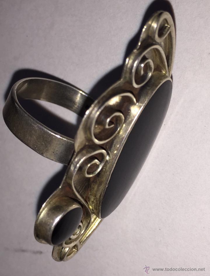 Artesanía: Bonito anillo en plata y piedra negra - Foto 2 - 51657140