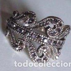 Artesanía: ANILLO CON PIEDRITAS - 18MM DIAMETRO. Lote 49850009