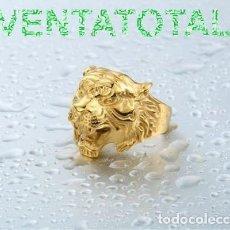 Artesanía: ANILLO SORTIJA TIGRE VINTAGE DE ORO AMARILLO DE 18 KILATES LAMINADO PESA 14,14 GRA TALLA 8 - Nº254. Lote 110422959